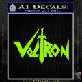Voltron Decal Sticker Wide Lime Green Vinyl 120x120