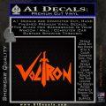 Voltron Decal Sticker Wide Orange Emblem 120x120
