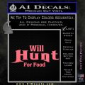 Will Hunt For Food Decal Sticker Pink Emblem 120x120