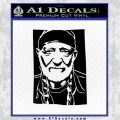 Willie Nelson Poster Decal Sticker Black Vinyl 120x120