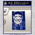 Willie Nelson Poster Decal Sticker Blue Vinyl 120x120