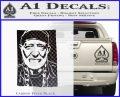 Willie Nelson Poster Decal Sticker Carbon FIber Black Vinyl 120x97