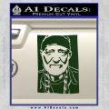 Willie Nelson Poster Decal Sticker Dark Green Vinyl 120x120
