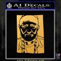 Willie Nelson Poster Decal Sticker Gold Vinyl 120x120