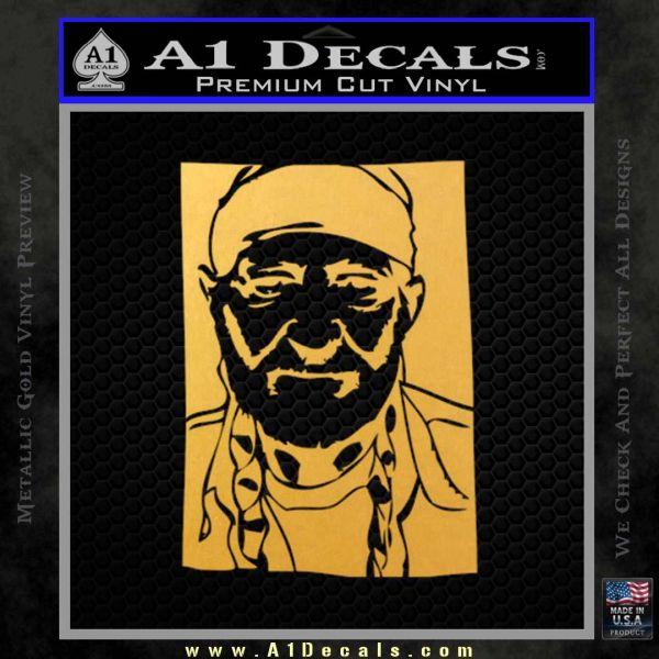 Willie Nelson Poster Decal Sticker 187 A1 Decals
