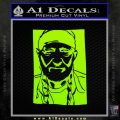 Willie Nelson Poster Decal Sticker Lime Green Vinyl 120x120