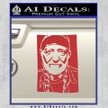 Willie Nelson Poster Decal Sticker Red 120x120