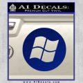 Windows Circle Decal Sticker Blue Vinyl 120x120