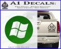 Windows Circle Decal Sticker Green Vinyl Logo 120x97