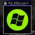 Windows Circle Decal Sticker Lime Green Vinyl 120x120