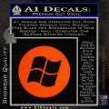 Windows Circle Decal Sticker Orange Emblem 120x120