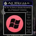 Windows Circle Decal Sticker Pink Emblem 120x120
