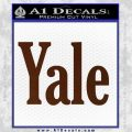 Yale Decal Sticker BROWN Vinyl 120x120