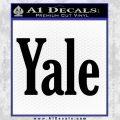 Yale Decal Sticker Black Vinyl 120x120