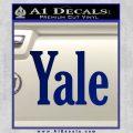 Yale Decal Sticker Blue Vinyl 120x120
