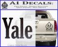 Yale Decal Sticker Carbon FIber Black Vinyl 120x97