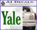 Yale Decal Sticker Green Vinyl Logo 120x97