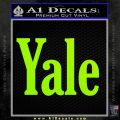 Yale Decal Sticker Lime Green Vinyl 120x120