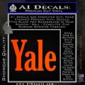 Yale Decal Sticker Orange Emblem 120x120