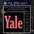 Yale Decal Sticker Pink Emblem 120x120