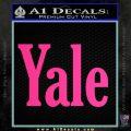 Yale Decal Sticker Pink Hot Vinyl 120x120