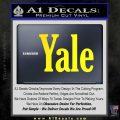 Yale Decal Sticker Yellow Laptop 120x120