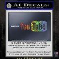 YouTube Logo Decal Sticker Glitter Sparkle 120x120