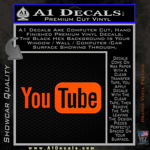 YouTube Logo Decal Sticker A Decals - Vinyl wall decal application youtube