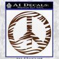Zebra Peace Sign Decal Sticker BROWN Vinyl 120x120