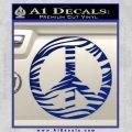 Zebra Peace Sign Decal Sticker Blue Vinyl 120x120