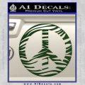 Zebra Peace Sign Decal Sticker Dark Green Vinyl 120x120
