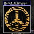 Zebra Peace Sign Decal Sticker Gold Vinyl 120x120