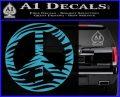 Zebra Peace Sign Decal Sticker Light Blue Vinyl 120x97