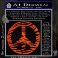 Zebra Peace Sign Decal Sticker Orange Emblem 120x120