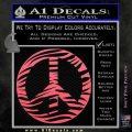 Zebra Peace Sign Decal Sticker Pink Emblem 120x120