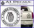 Zombie Outbreak Response Team D2 Decal Sticker Carbon FIber Black Vinyl 120x97