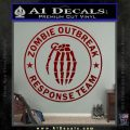 Zombie Outbreak Response Team D2 Decal Sticker DRD Vinyl 120x120