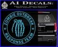 Zombie Outbreak Response Team D2 Decal Sticker Light Blue Vinyl 120x97