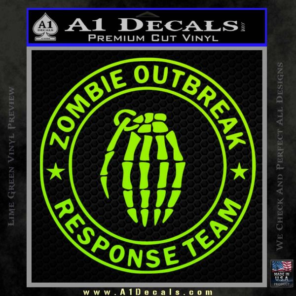 Zombie Outbreak Response Team D2 Decal Sticker 187 A1 Decals