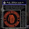 Zombie Outbreak Response Team D2 Decal Sticker Orange Emblem 120x120