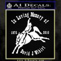 David Wilibert Memor Of Decal Sticker 120x120