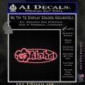 Aloha Hibiscus Decal Sticker Pink Emblem 120x120