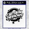 Captain Obvious D1 Decal Sticker Black Vinyl 120x120