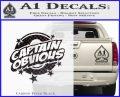 Captain Obvious D1 Decal Sticker Carbon FIber Black Vinyl 120x97