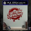 Captain Obvious D1 Decal Sticker DRD Vinyl 120x120
