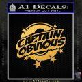 Captain Obvious D1 Decal Sticker Gold Vinyl 120x120