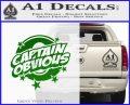 Captain Obvious D1 Decal Sticker Green Vinyl Logo 120x97