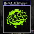 Captain Obvious D1 Decal Sticker Lime Green Vinyl 120x120