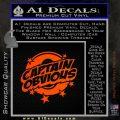Captain Obvious D1 Decal Sticker Orange Emblem 120x120