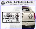 Dead Hooker Storage Unit Decal Sticker Carbon FIber Black Vinyl 120x97